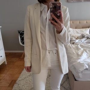 H&M White/Cream Blazer